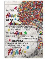 Colorful Tree In This House We Do Autism Vertical Poster