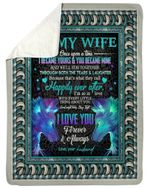 Blue Wolves So In Love With You Gift For Wife Sherpa Fleece Blanket