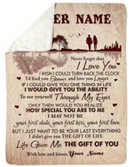 The Gift Of You Lake Custom Name Gift For Wife Sherpa Blanket
