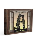 Son Gift For Mom I Am Because You Are Custom Name Matte Canvas