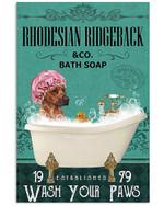 Dog Rhodesian Ridgeback Bath Soap Gift For Dog Lovers Vertical Poster