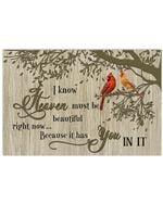 I Know Heaven Must Be Beautiful Right Now Hummingbird Horizontal Poster
