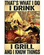 Camping That's What I Do I Drink Vertical Poster