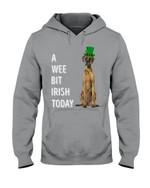 Danish Mastiff Irish Today Green St. Patrick's Day Printed Hoodie