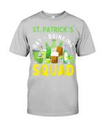 Happy St. Patrick's Day Drinking Squad Irish Shamrock Guys Tee