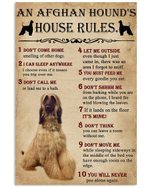 An Afghan Hound's House Rules Gift For Dog Lovers Vertical Poster