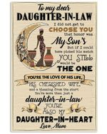 Afro Woman Daughter In Heart Mom Gift For Daughter In Law Vertical Poster