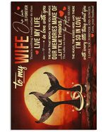 Whale Couple So In Love With You Gift For Wife Vertical Poster