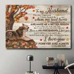 To My Husband Whom My Soul Loves Husky Tree Horizontal Poster