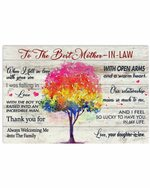 To The Best Mother In Law With Open Arms Tree Horizontal Poster