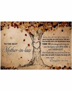 To The Best Mother In Law Thank You Tree Heart Horizontal Poster