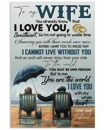 To My Wife I Love You With My Whole Heart Vertical Poster