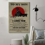 To My Son Your Way Back Home Beige Vertical Poster