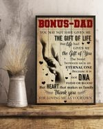 Bonus Dad Thank You For Loving Me Hands Vertical Poster