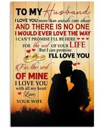 To Husband I Love You More Than Words Can Show Couple Vertical Poster