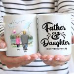 Father And Daughter Best Friends Custom Name And Photo Printed Mug