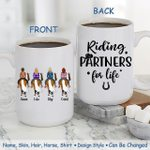 Custom Name And Photo Riding Partners For Life White Printed Mug