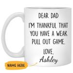 Custom Name I Am Thankful That You Have A Weak White Printed Mug