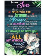 To My Son Love You From Dad Elephants Vertical Poster
