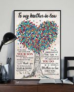 To My Mother In Law Brought Up Your Son Tree Vertical Poster