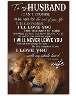 To My Husband I Will Love You The Rest Of Your Life Lion Vertical Poster