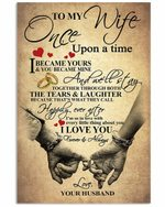 To Wife Once Upon A Time I Became You Hands Vertical Poster