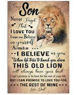 To My Son Love You For The Rest Of Mine Lion Vertical Poster