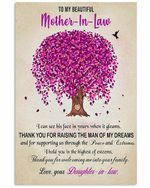 To Mother In Law Peace And Extremes Purple Tree Vertical Poster