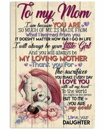 To My Mom You Are My World Lovely Unicorns Vertical Poster