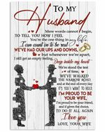 To My Husband I Am Proud To Be Your Wife Vertical Poster