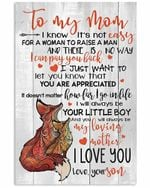 To Mom How Far I Go In Life Unique Fox Pattern Vertical Poster