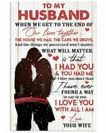 To My Husband I Love You With All I Am Couple Vertical Poster