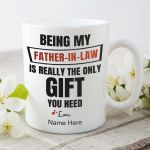 Being My Father In Law Custom Name White Printed Mug