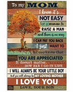 To Mom I Can Pay You Back Orange Tree Pattern Vertical Poster