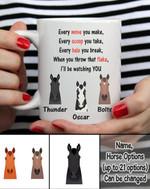 Custom Name And Photo Be Watching You White Printed Mug