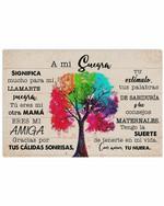 A Mi Suegra Desde Tu Nuera Colorful Tree Horizontal Poster