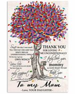 To My Mom From Daughter Colorful Tree Thank You Vertical Poster