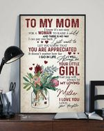 To Mom You Are Appreciated Flower Vase Vertical Poster