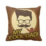 My Cool Dad With Pipe Gift For Daddy Printed Cushion Pillow Cover