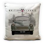 Custom Name Morris Minor British Classic Car Printed Cushion Pillow Cover
