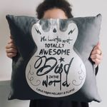 Custom Name Totally Awesome Dad Guitar Gift For Dad Pillow Cover