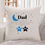 Custom Name Little Stars Waning Moon Dad Gift For Dad Pillow Cover