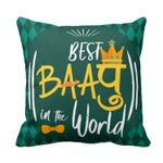 Best Baapu In The World Printed Cushion Pillow Cover