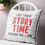 Custom Name Cushion Pillow Cover Gift Child's Story Time Cinema Marquee