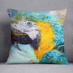 Watercolour Parrot Close Up Printed Cushion Pillow Cover