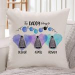 Custom Name This Daddy Belongs To Penguin Gift For Dad Pillow Cover
