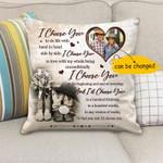 Gift For Husband Printed Cushion Pillow Cover Custom Photo I Choose You