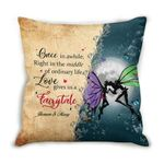 Magic Butterflies Love Gives Us A Fairytale Custom Name Cushion Pillow Cover Gift