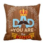 You Are King Crown Gift For Daddy Printed Cushion Pillow Cover