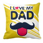 Funky I Love Dad Gift For Daddy Printed Cushion Pillow Cover